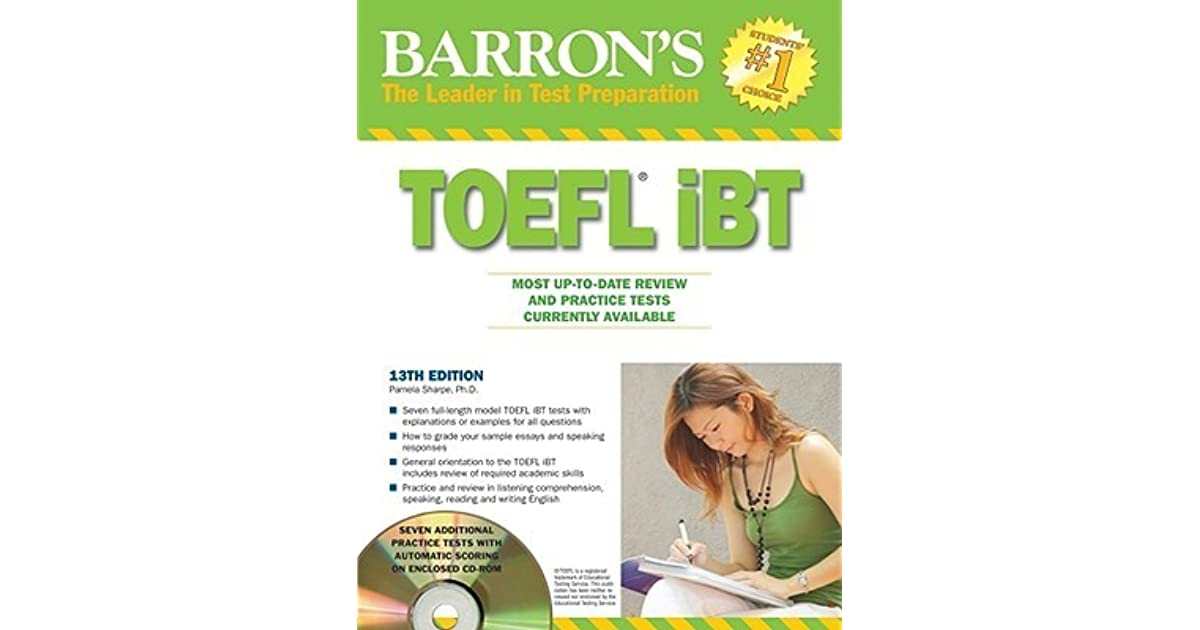 Barrons toefl ibt with cd rom and 2 audio cds barrons toefl ibt barrons toefl ibt with cd rom and 2 audio cds barrons toefl ibt by pamela j sharpe fandeluxe Choice Image