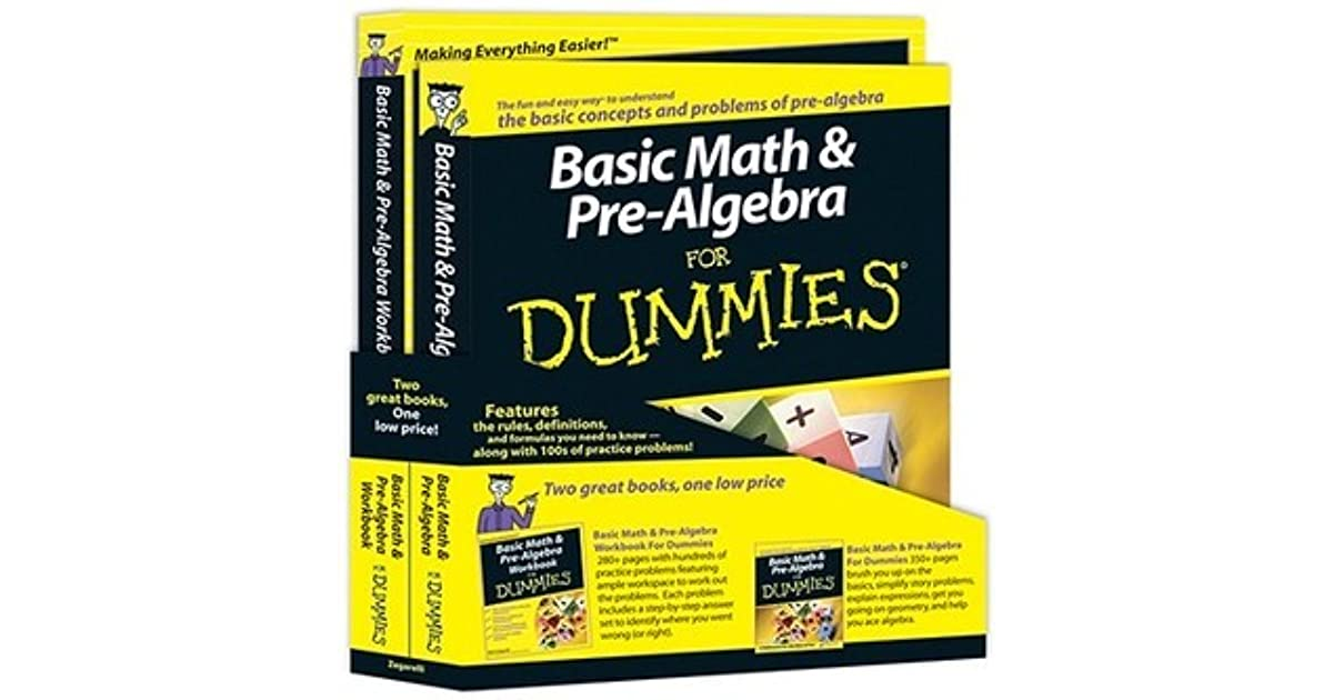 Basic Math and Pre-Algebra for Dummies Education Bundle [With ...