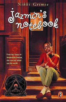 Jazmin's Notebook cover art with link to Goodreads page