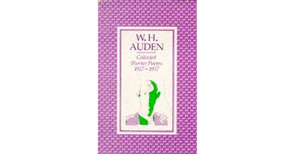 w.h. auden writing essay Let us write or edit the essay on your topic the human condition in modern society: the unknown citizen by w h auden and richard cory by edwin arlington robinson with a personal 20% discount.