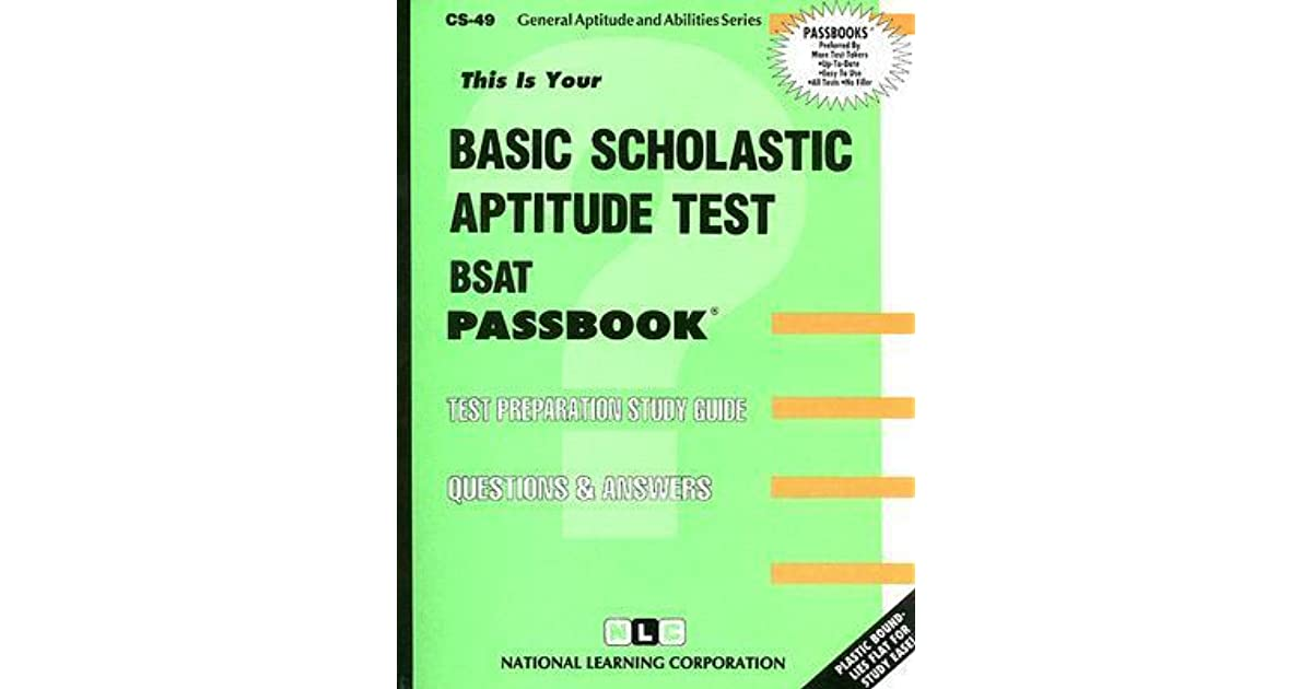 Basic Scholastic Aptitude Test by National Learning Corporation