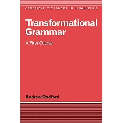 Transformational Grammar Andrew Radford Pdf