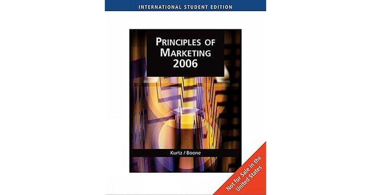 Principles of marketing 2006 with infotrac by david l kurtz fandeluxe Choice Image