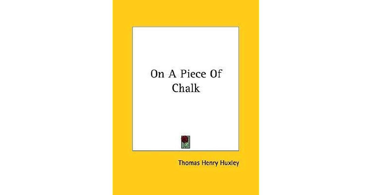 a piece of chalk book