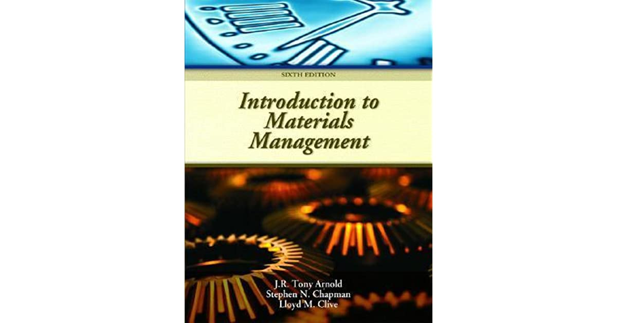 Introduction To Materials Management Tony Arnold Pdf