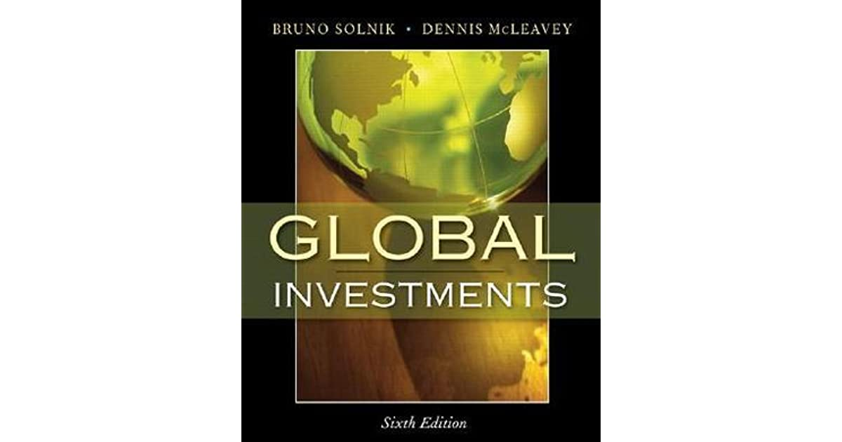 Global Investments by Bruno H  Solnik