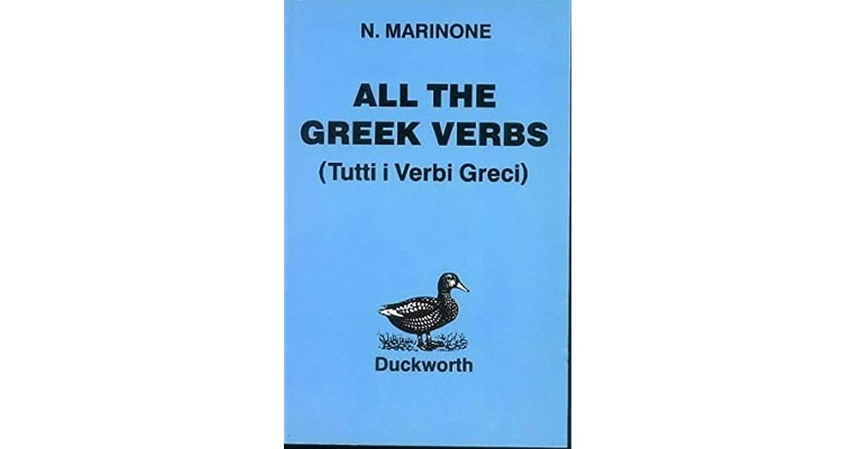 Image result for all the greek verbs duckworth