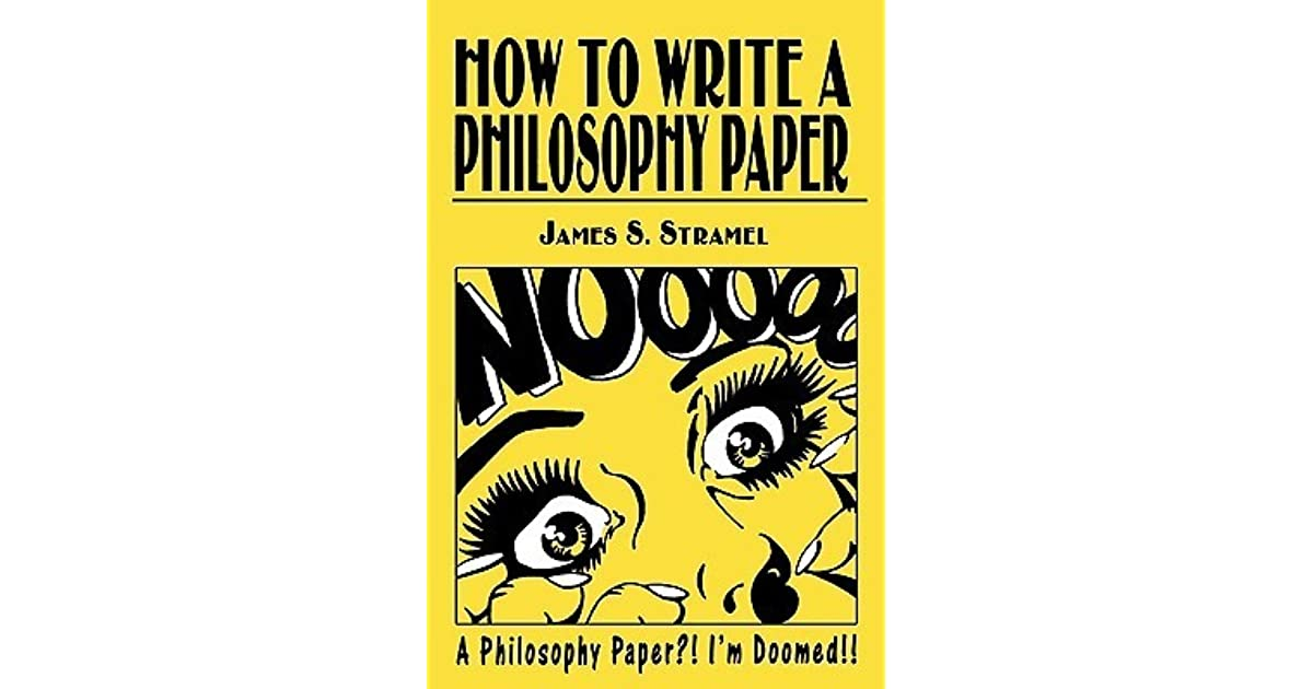 writing a philosophy paper