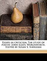 Doing Assignments Online Essays In Criticism The Study Of Poetry John Keats Wordsworth Edited By English Language Essay also Learning English Essay Essays In Criticism The Study Of Poetry John Keats Wordsworth  Buy Mba Research