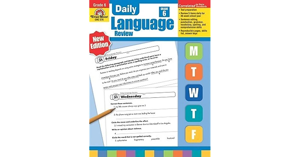 Daily Language Review Grade 6+ by Evan-Moor Educational Publishing