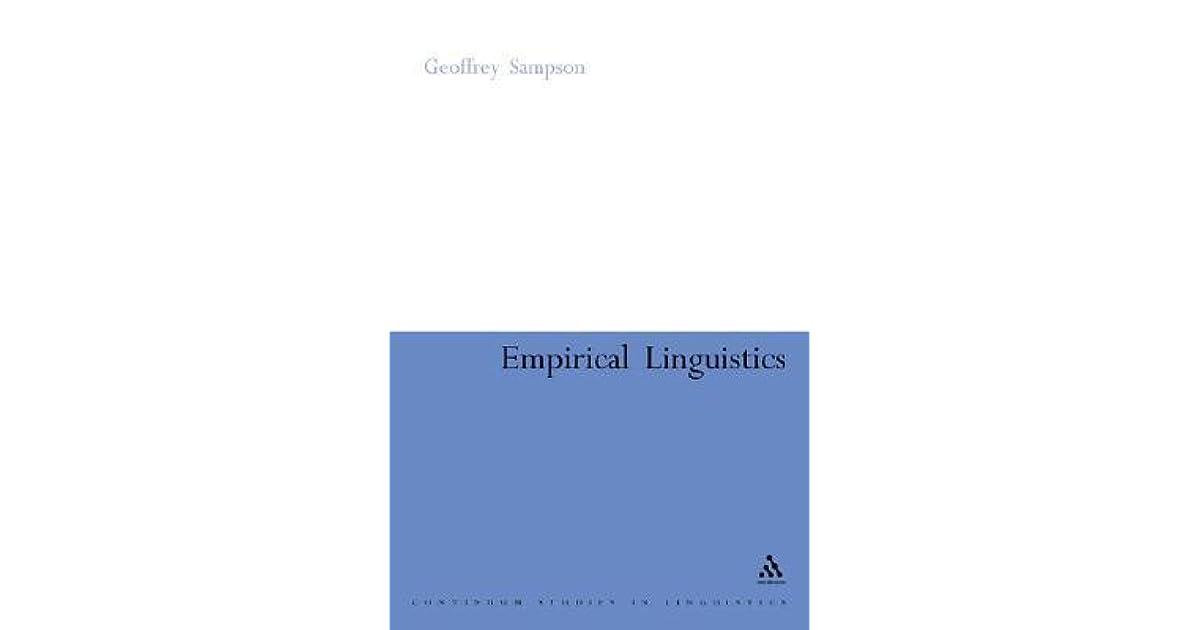 Empirical Linguistics By Geoffrey Sampson