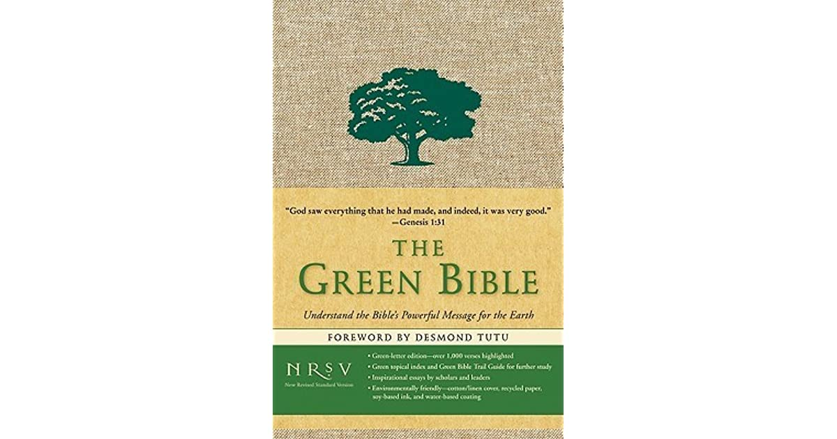 Holy Bible: The Green Bible, New Revised Standard Version by