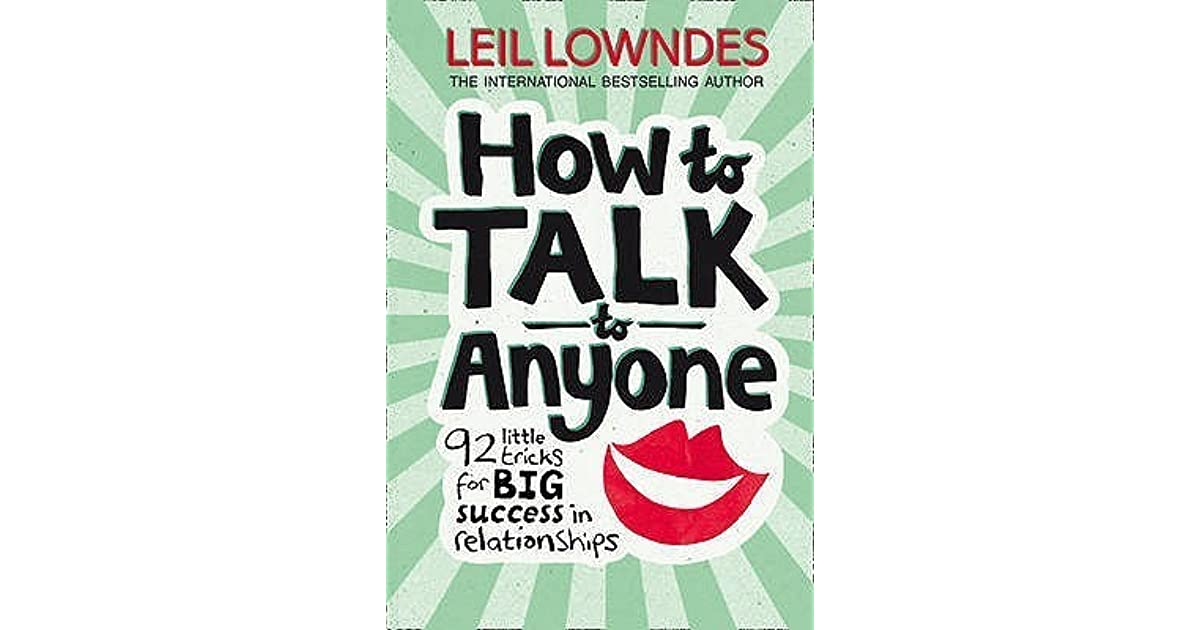 how to talk to anyone leil lowndes pdf