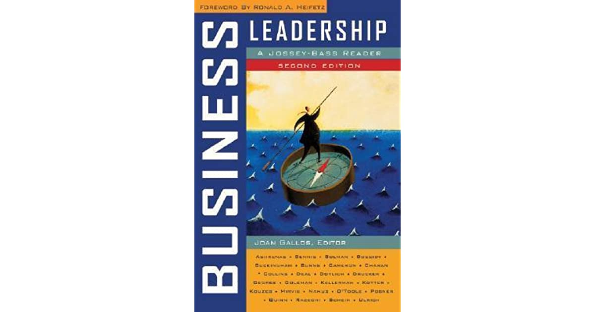 Business leadership a jossey bass reader by joan v gallos fandeluxe Images