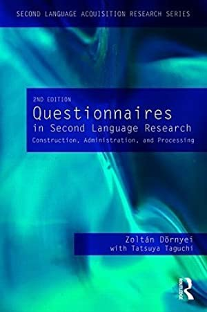 [ PDF ] ✍ Questionnaires in Second Language Research  Author Zoltán Dörnyei – Submitalink.info