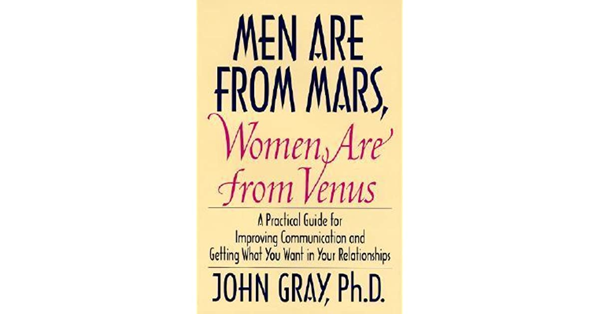men are from mars women are from venus essays Men are from mars, women are from venus: an analysis of a potential meme by jo howarth noonan under the direction of jaye atkinson abstract the purpose of this study was to discover whether the phrase men are from mars,.
