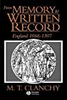 From Memory to Written Record: England 1066 - 1307