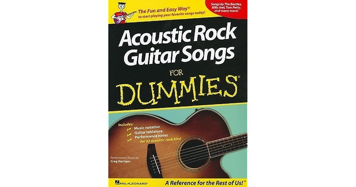 Acoustic Rock Guitar Songs for Dummies by Greg Herriges