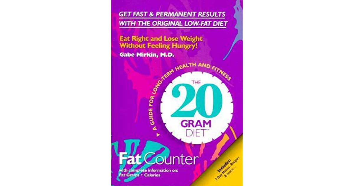the 20 gram diet fat counter by gabe mirkin