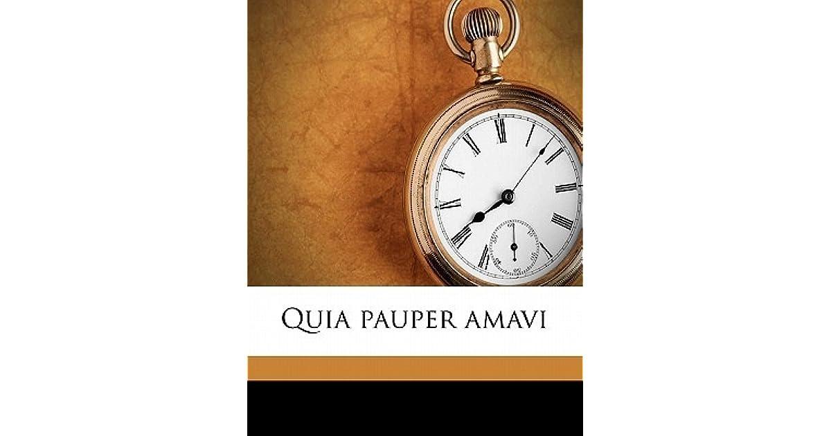 Quia Pauper Amavi by Ezra Pound