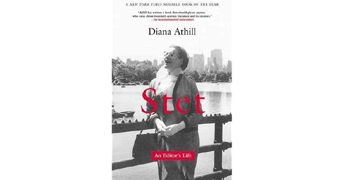 "2 thoughts on ""Stet: An Editor's Life by Diana Athill (2000)"""