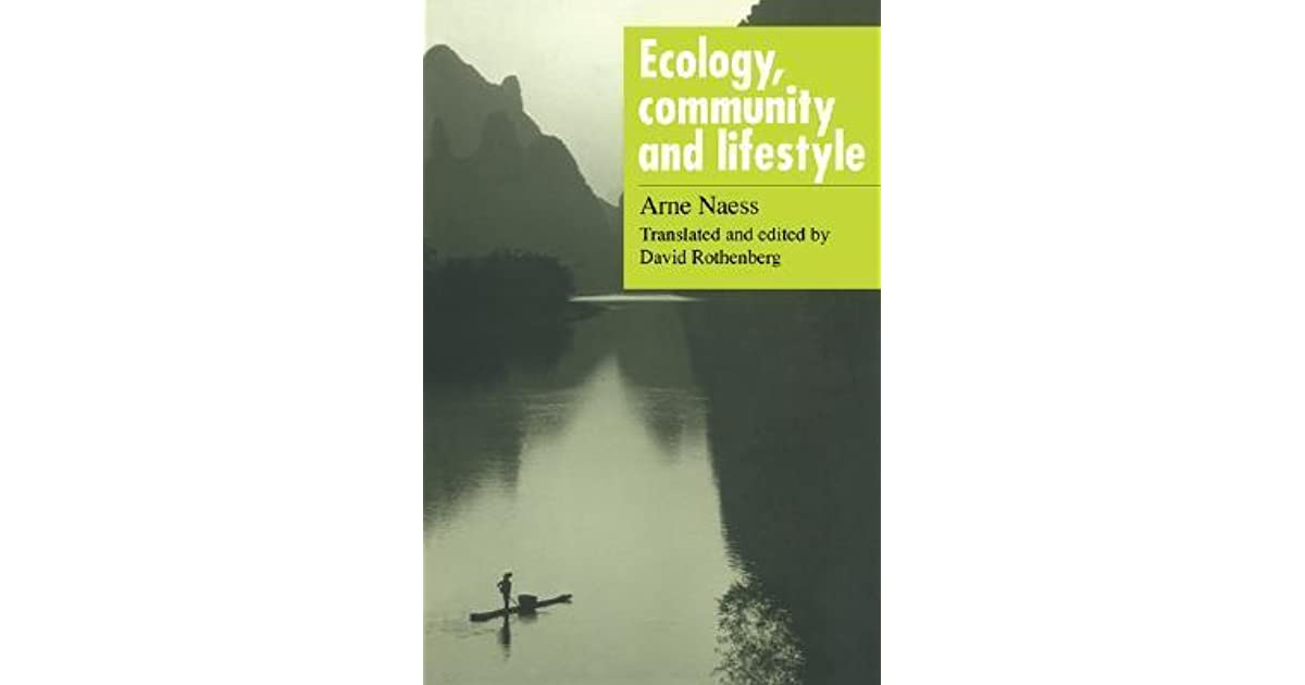 ecology community and lifestyle outline of an ecosophy pdf