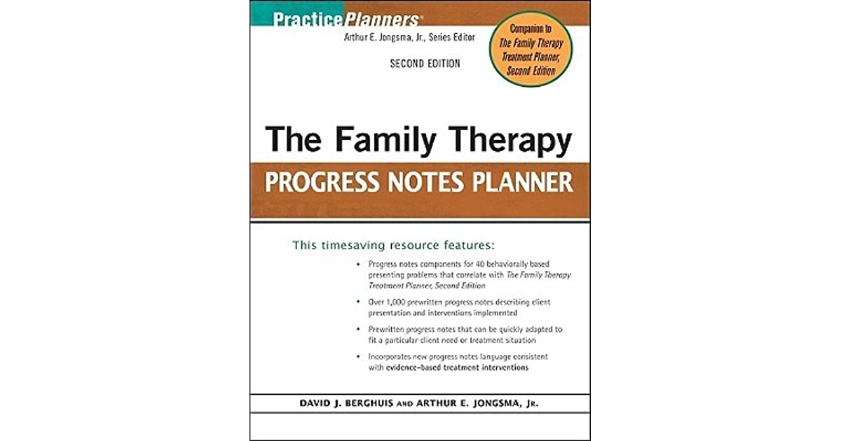 family therapy planner Available in: paperback the bestselling treatment planning system for mental health professionals the family therapy progress notes.