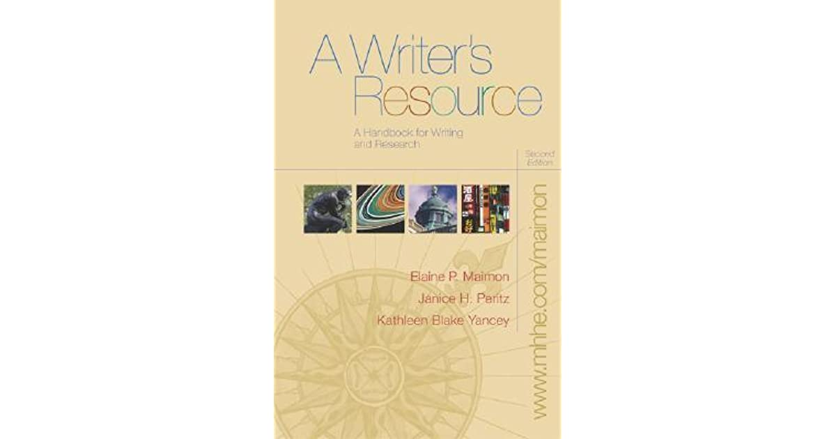 A Writer S Resource A Handbook For Writing And Research