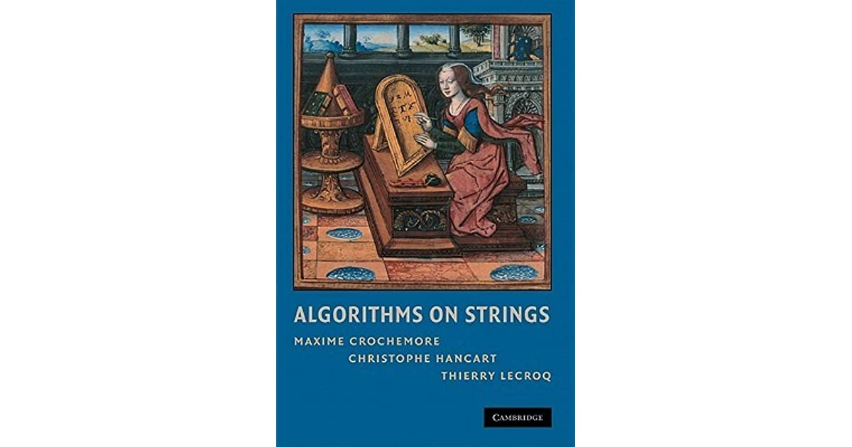 Algorithms on strings by maxime crochemore fandeluxe Gallery
