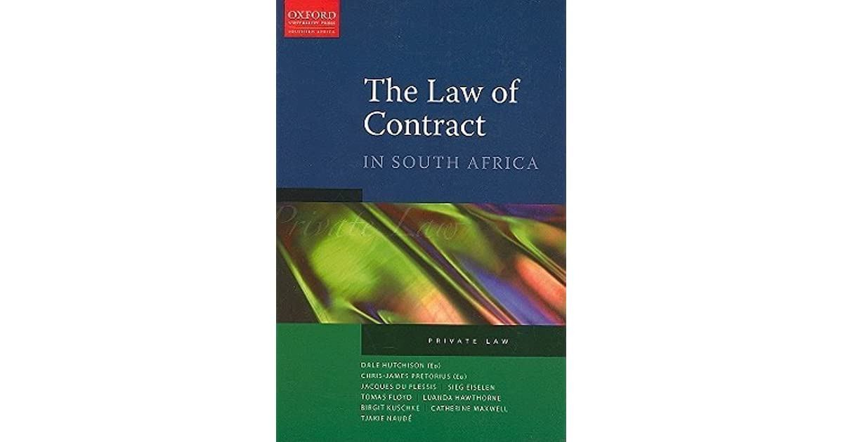 Book Cover Photography Contract : The law of contract in south africa private by dale