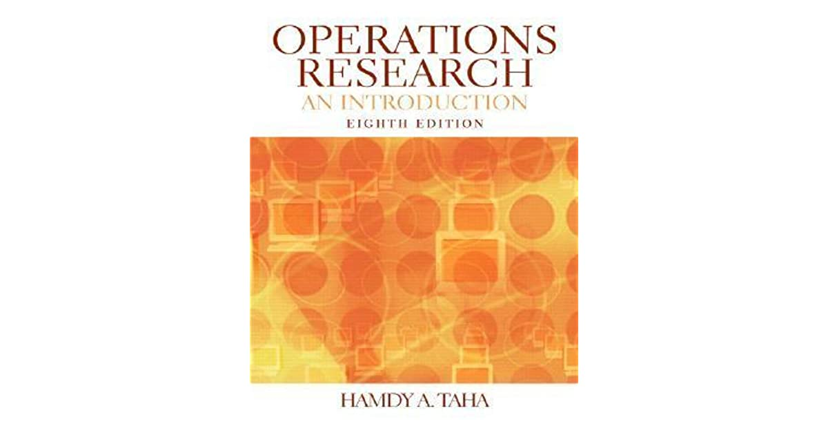 Operations Research An Introduction Taha Pdf