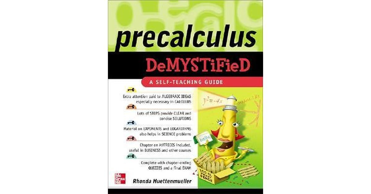 business calculus demystified huettenmueller rhonda