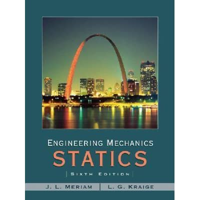 Mechanics meriam pdf kraige statics engineering