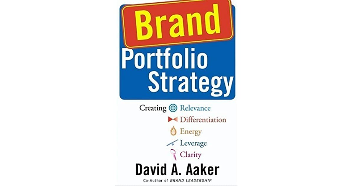 Brand Portfolio Strategy Creating Relevance Differentiation Energy Leverage And Clarity By David A Aaker