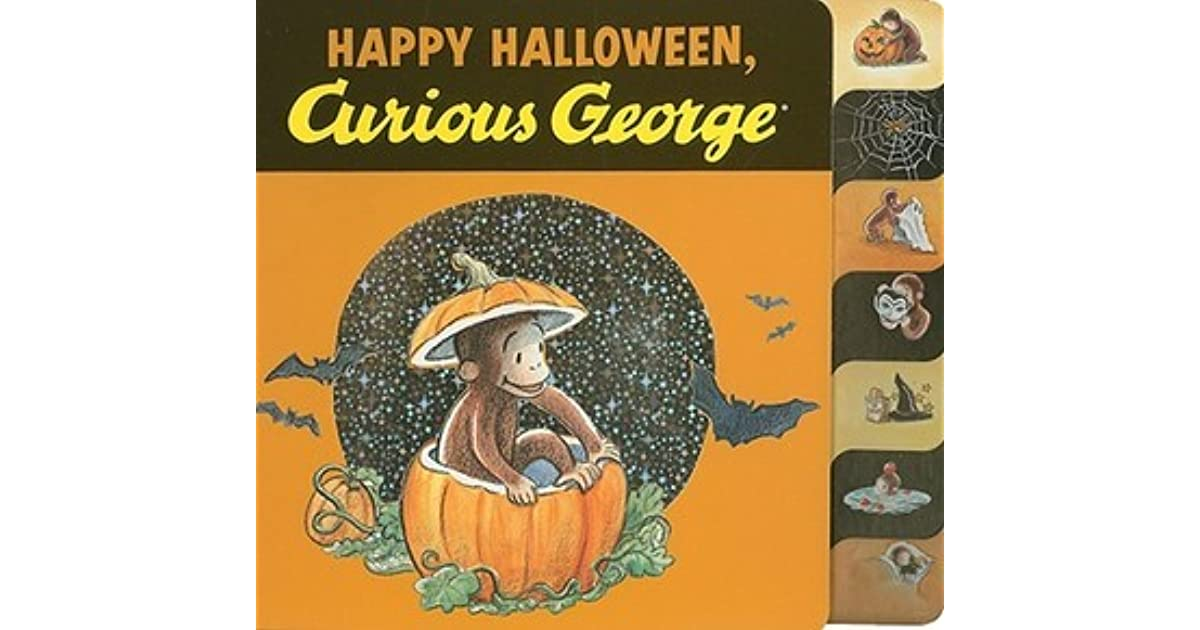happy halloween curious george tabbed board book by ha rey