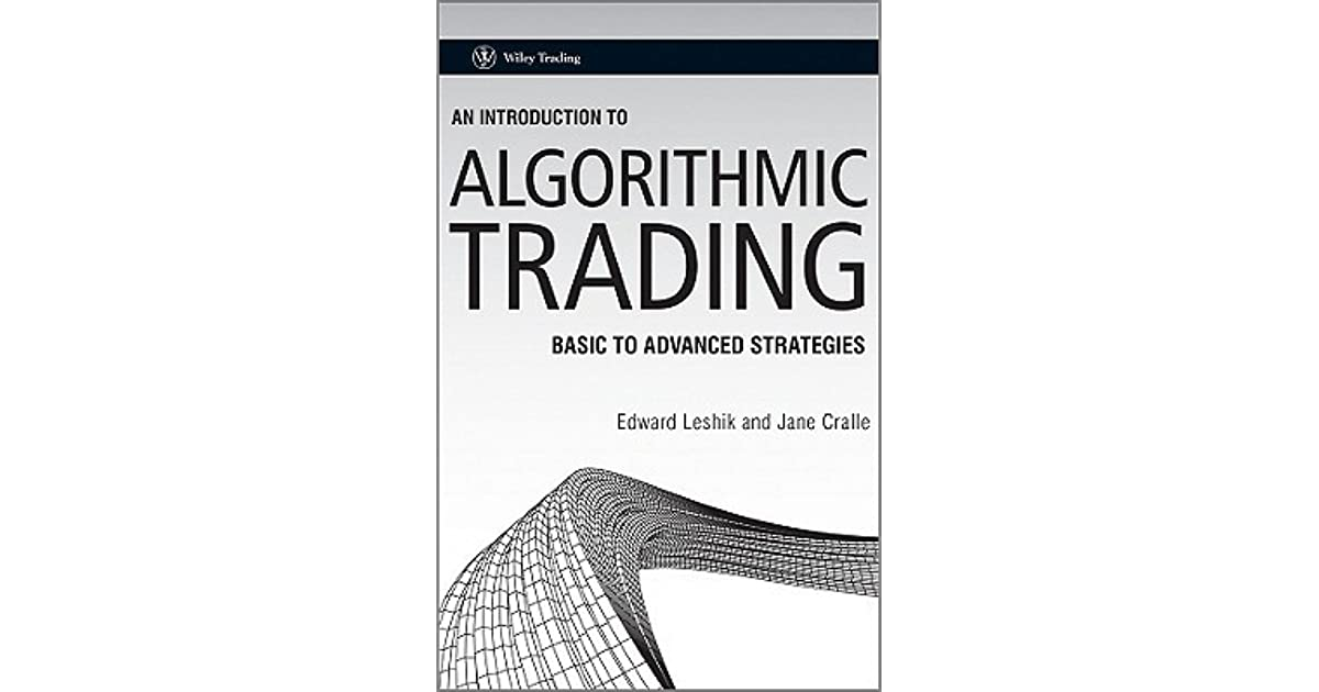 An introduction to algorithmic trading basic to advanced strategies (wiley trading) pdf