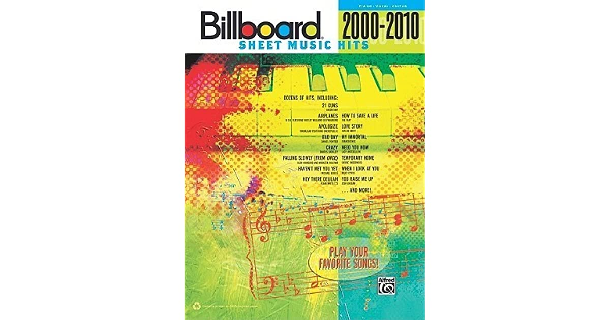 Billboard Sheet Music Hits 2000-2010: Piano/Vocal/Guitar by Alfred A