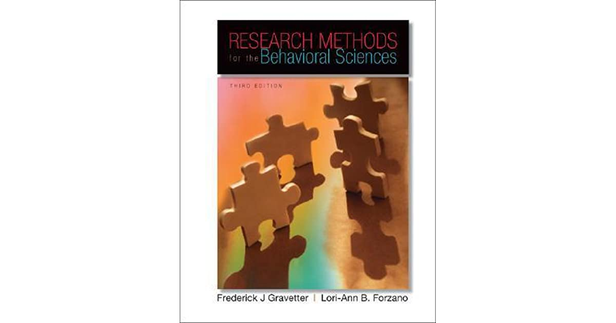 Research methods for the behavioral sciences by frederick j gravetter fandeluxe Gallery