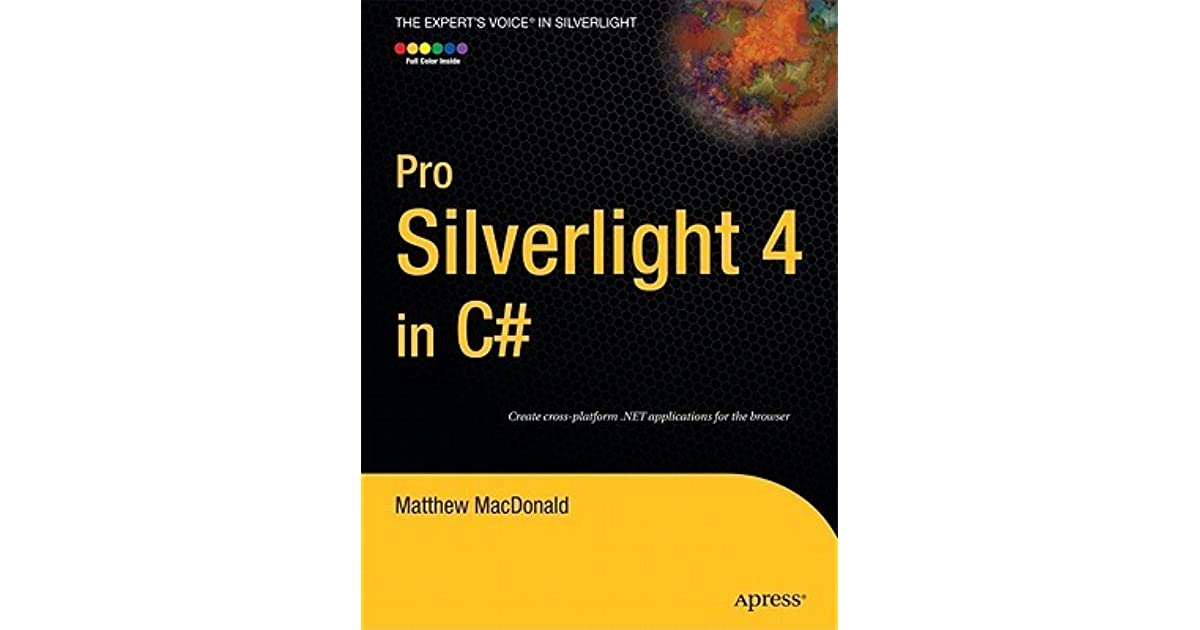 pro silverlight 4 in c  book