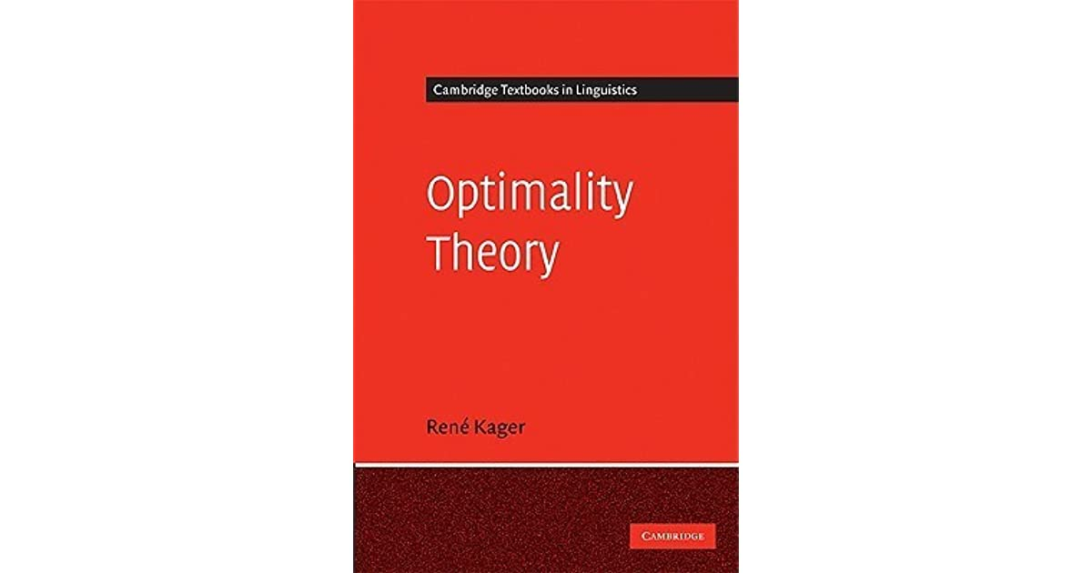 Optimality Theory By Rene Kager border=