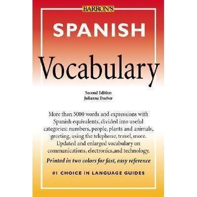 Spanish vocabulary by julianne dueber m4hsunfo