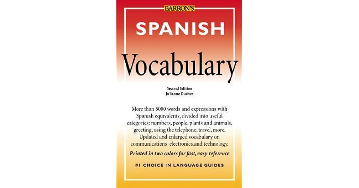 Spanish vocabulary by julianne dueber m4hsunfo