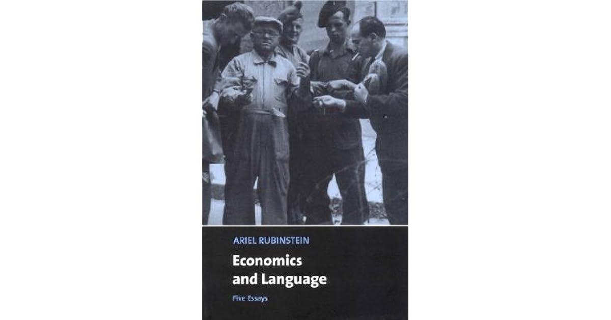 Economics and Language: Five Essays by Ariel Rubinstein