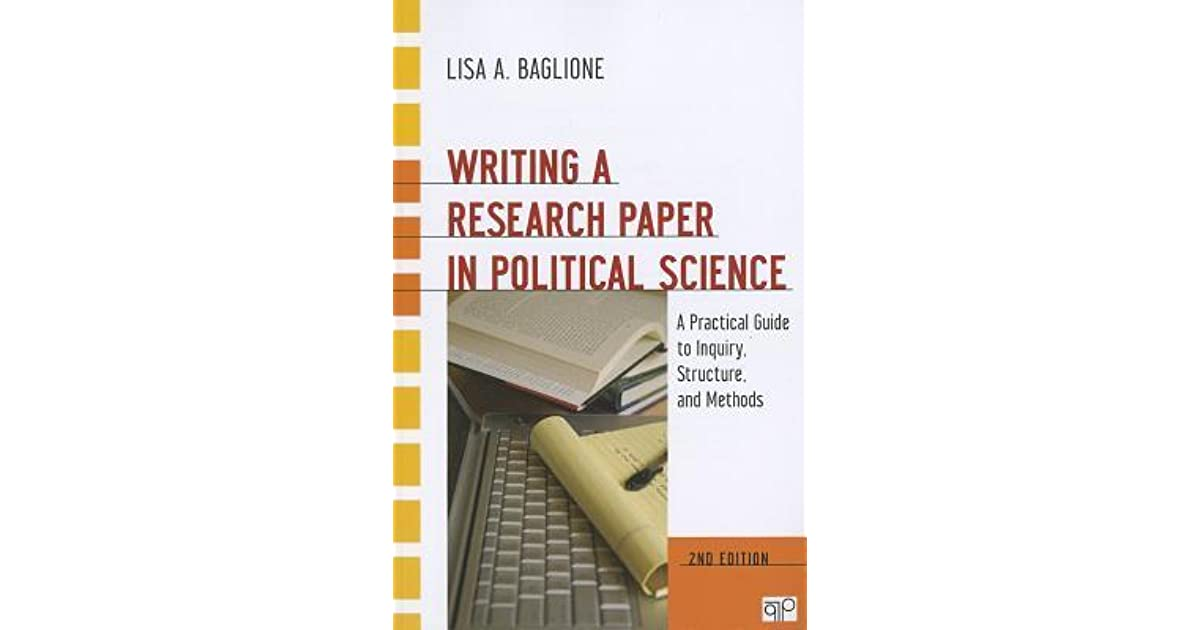 Buy Writing a Research Paper in Political Science by Lisa