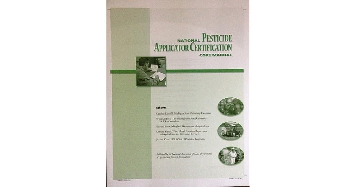 National Pesticide Herbicide Applicator Certification Core Manual