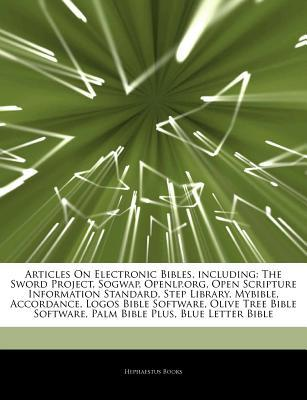 Articles on Electronic Bibles, Including: The Sword Project