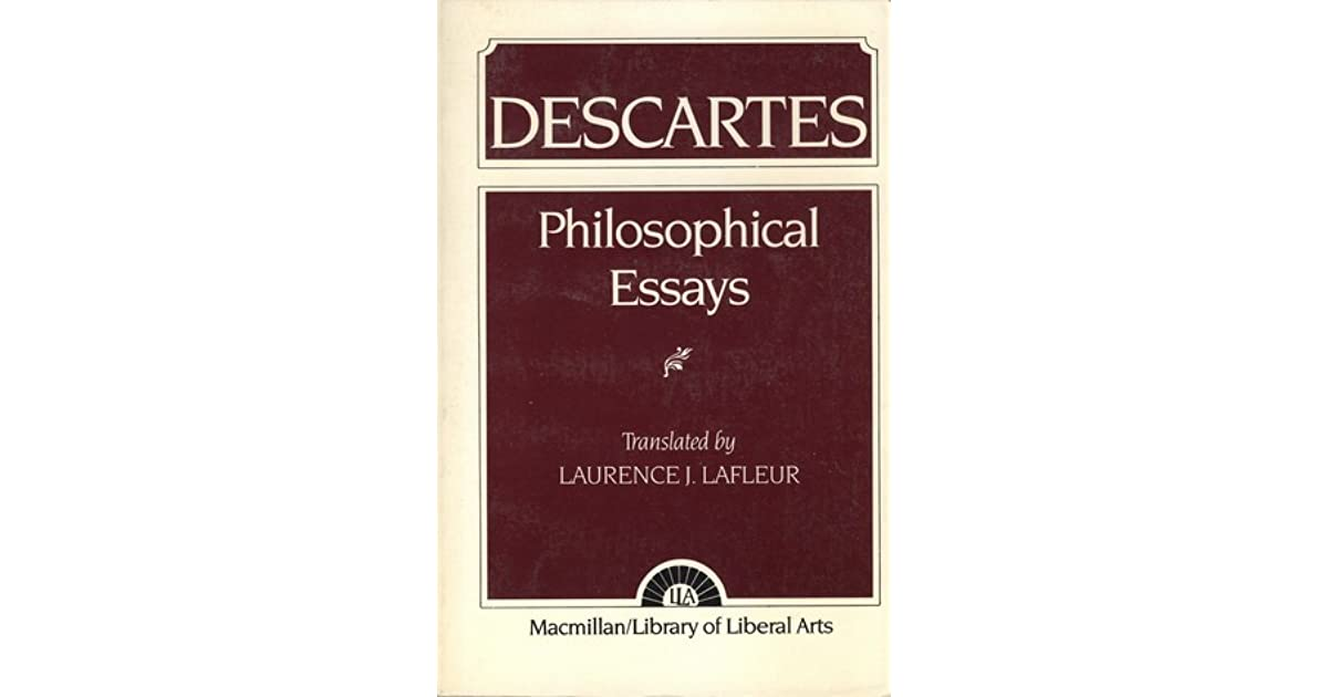 rene descartes and a discription essay