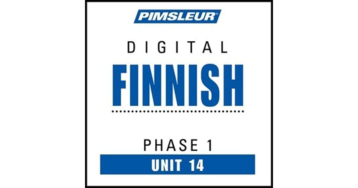 Pimsleur Finnish Level 1 Lesson 14 MP3: Learn to Speak and