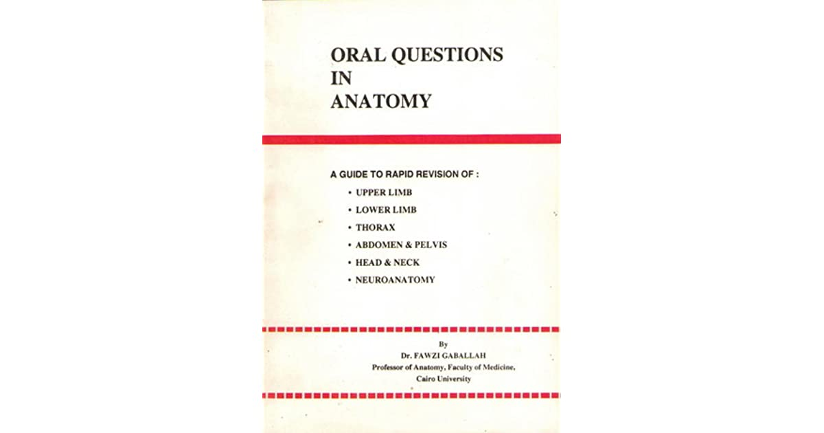 Oral Questions in Anatomy by Fawzi Gaballah