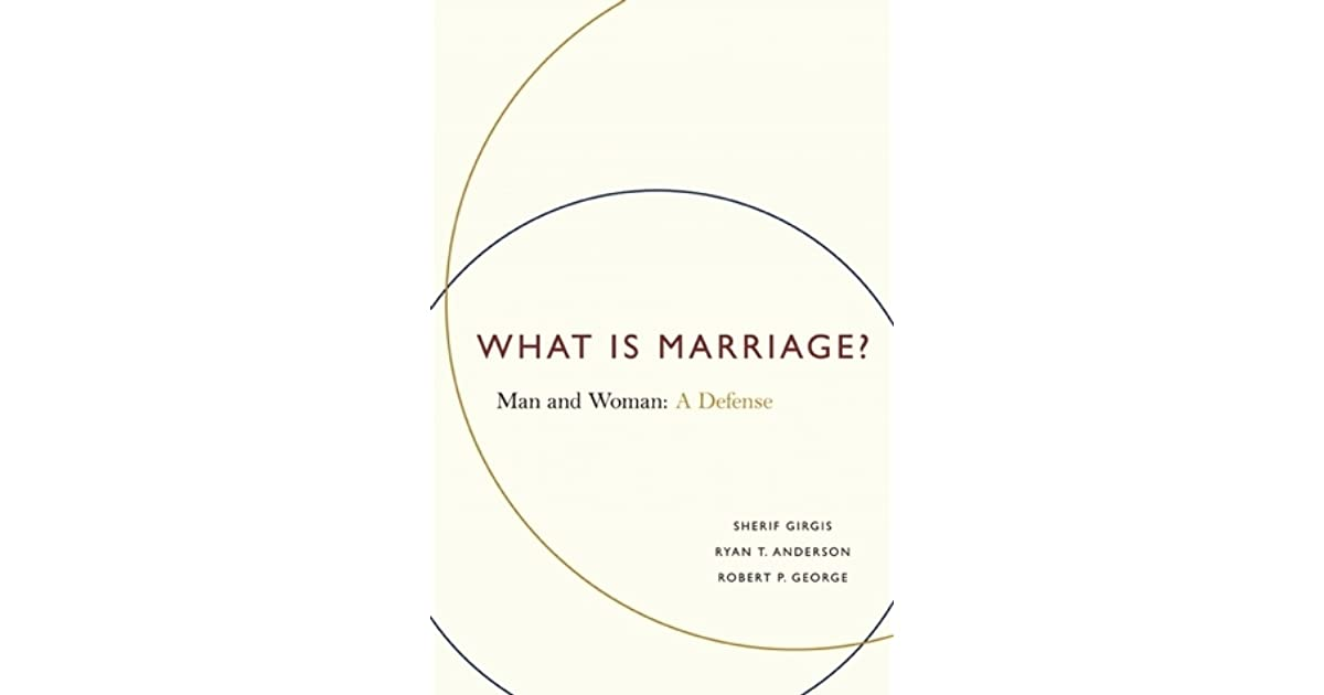 what is marriage man and woman a defense pdf
